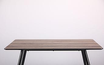 Стол обеденный Bronx 120*80*75 черный/МДФ дуб шервуд TM AMF, фото 3