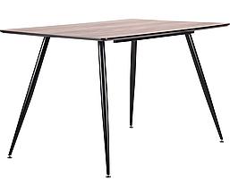 Стол обеденный Bronx 120*80*75 черный/МДФ дуб шервуд TM AMF, фото 2