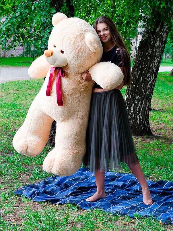 Плюшевый Мишка Ветли 160см Большой Мишка игрушка Плюшевый медведь Мягкие мишки игрушки Ведмедик
