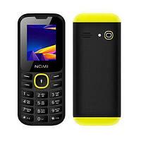 """Телефон Nomi i184 Black-Yellow черно-желтый (1SIM) 1,8"""" 32/32 МБ+SD оригинал Гарантия!"""