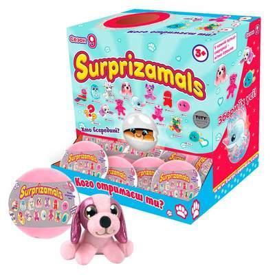 Мягкая игрушка-сюрприз в шаре SURPRIZAMALS S9 (14 видов в ассорт.)