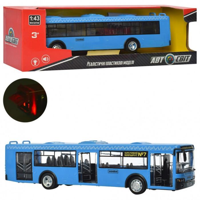 Автобус AS-1827 (36шт) АвтоСвіт 1:43,инер-й,28см