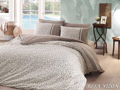 Комплект постільної білизни First Choice Ranforce Deluxe євро Rita Vizon, фото 2