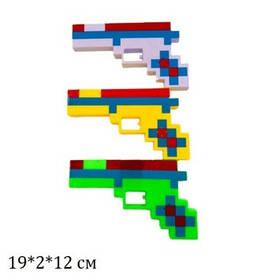 Пистолет MINECRAFT 3848 батар.муз.свет.3цв.кул.19*2*12 /576/