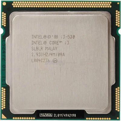 Процессор, Intel Core i3-530, 4 ядра, 2.93 гГц
