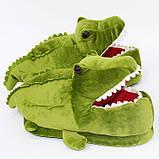 Мягкие тапочки кигуруми Крокодил  Код 10-2608, фото 4