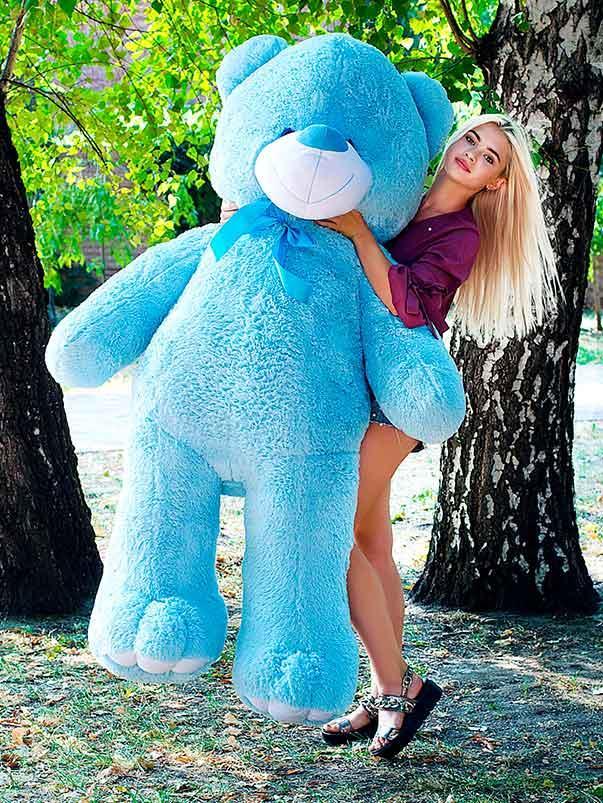 Плюшевый Мишка Ветли 200см. Большой Мишка игрушка Плюшевый медведь Мягкие мишки игрушки Ведмедик(Голубые)