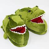 Мягкие тапочки кигуруми Крокодил  Код 10-2615, фото 3
