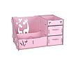 Комод настольный для косметики, украшений, фурнитуры Розовый, фото 3