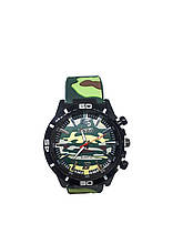 Часы мужские Pinbo Army на силиконовом ремешке. Светло зеленый