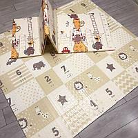 Десткий складной теплый коврик для ползания Цифры Термоковрик для детей