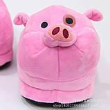 Мягкие тапочки кигуруми Свинка  Код 10-2705, фото 2