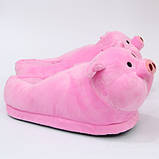 Мягкие тапочки кигуруми Свинка  Код 10-2705, фото 4