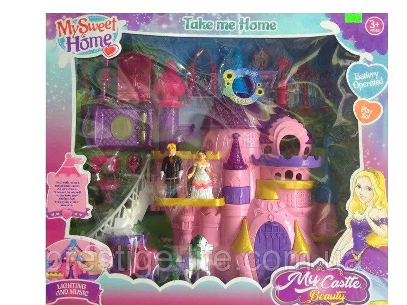 Набір ляльок з аксесуарами «Замок принцеси» (музика, світло) SG-29020