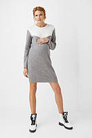 Платье для беременных и кормящих Dianora 1999 серое, фото 1