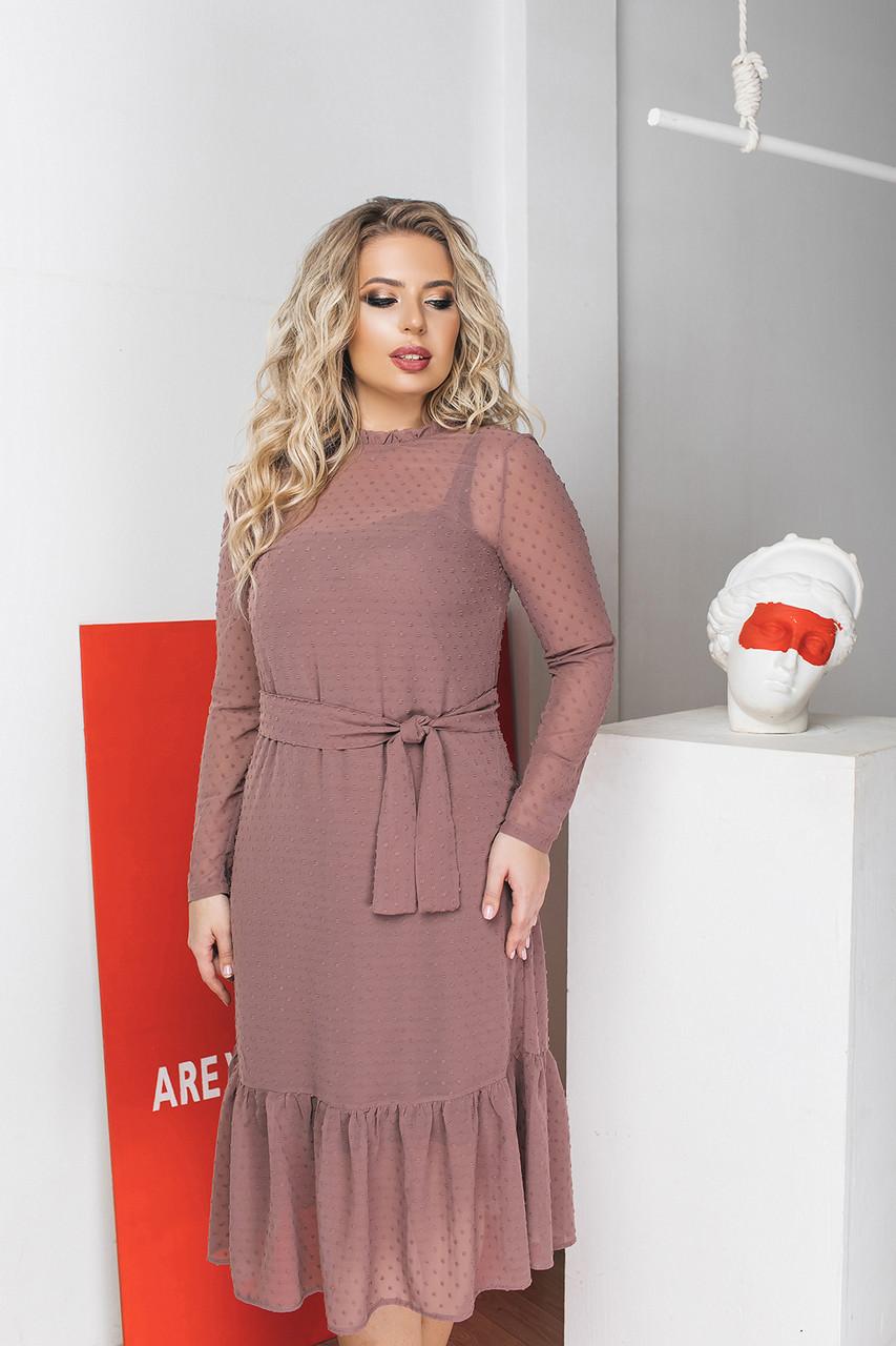 Платье LiLove 035-2 50-52 бежевый