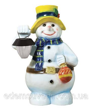 Новорічна садова фігура Сніговик з ліхтарем, фото 2