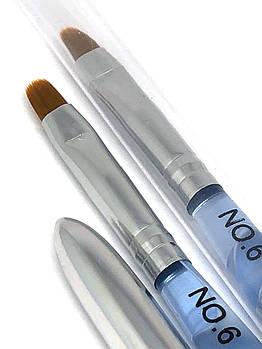 Кисть-трансформер со съемной ручкой овальная №6