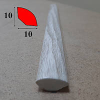 Округлый внутренний угол из вспененного ПВХ 10 мм х 10 мм, 2,7 м Сосна белённая