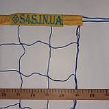 Волейбольная сетка «ЭКОНОМ 12» сине-желтая, фото 2