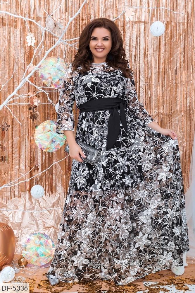 Стильное платье  (размеры 50-60) 0224-47