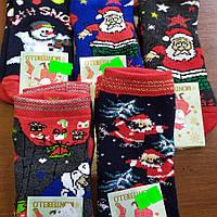 Новогодние зимние носки с махрой р.1