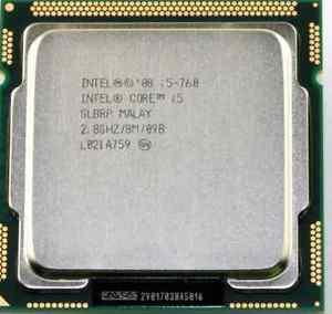 Процессор, Intel Core i5-760, 4 ядра, 3.33 гГц