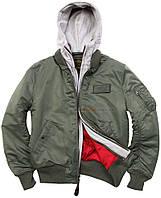 Куртка-бомбер MA-1 D-TEC Alpha Industries (оливковая)