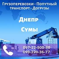 Грузоперевозки Попутный транспорт Догрузы Днепр - Сумы