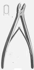 Щ-59 Щипці-кусачки кісткові з круглими губками,прямі (Накансон)