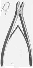 Щ-61 Щипці-кусачки кісткові з круглими губками, зігнуті (Накансон)