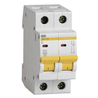 Автоматичний вимикач ВА47-29 2P-С 50A 4,5кА ІЕК, фото 2