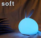 Ночник силиконовый кролик  Код 10-2922, фото 4