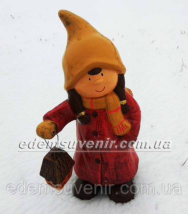 Новогодняя садовая фигура Герда с фонарем, фото 2
