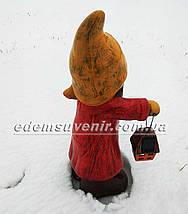 Новогодняя садовая фигура Герда с фонарем, фото 3