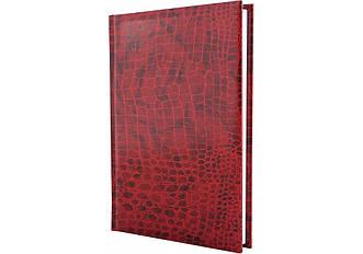 Щоденник недатований, А5, Croco, червоний