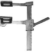 Р-4 Ранорасширитель рейковий для грудної порожнини з витратою дзеркал від 0 до 195 мм