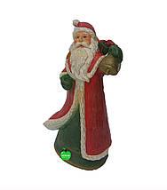 Новогодняя садовая фигура Дед Мороз с корзиной, фото 3