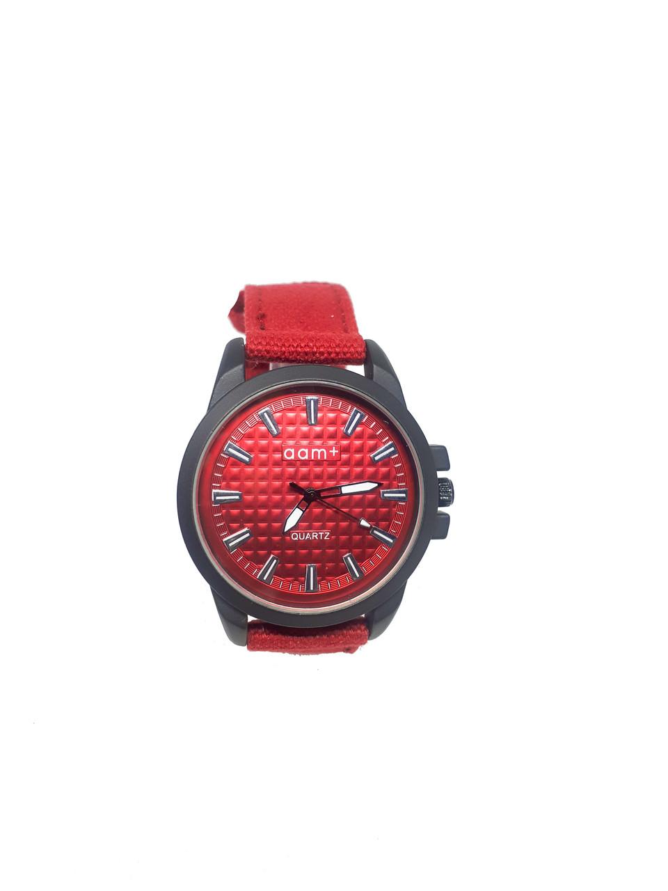 Часы кварцевые мужские  AAM+ Красный