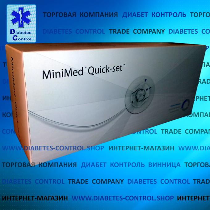 Катетеры для инсулиновой помпы Quick-set Medtronic 6/60 (Инфузионный набор) 10 шт.
