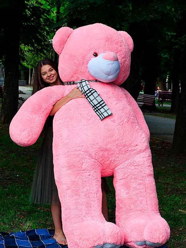 Плюшевый Мишка Ветли 250см.Большой Мишка игрушка Плюшевый медведь Мягкие мишки игрушки Ведмедик (Розовый)