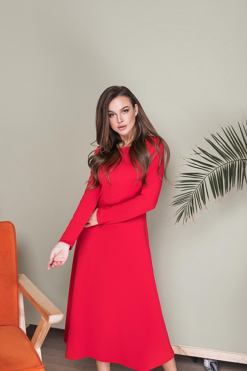 Платье LiLove 033-2 46 красный