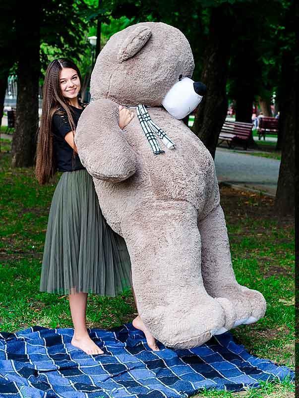 Плюшевый Мишка Ветли 250см.Большой Мишка игрушка Плюшевый медведь Мягкие мишки игрушки Ведмедик (Серый)