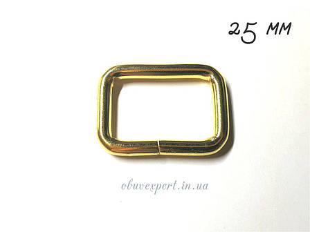 Рамка дротова 25*17 мм, товщ. 4 мм Золото, фото 2