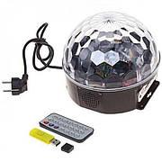 Диско шар светящийся с пультом Bluetooth Crystral Magik Ball Light MUSIC  USB