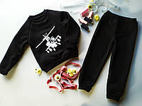 "Дитячий трикотажний костюм для хлопчика ""ВЕРТОЛЕТ"" чорний"