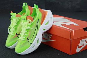 Женские кроссовки на высокой подошве Nike Zoom Vista Green (Найк Зум Виста в зеленом цвете)