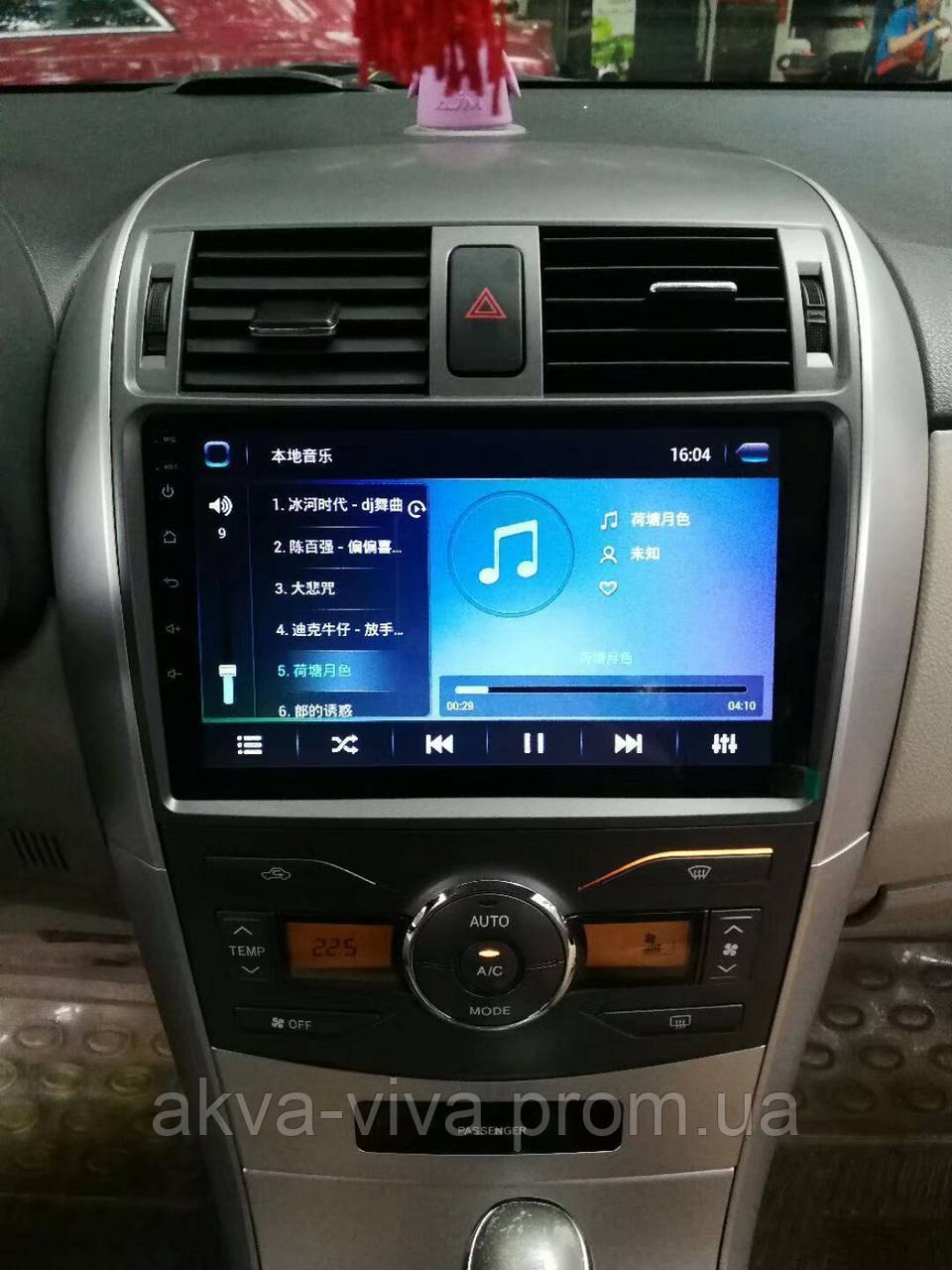 Штатная автомагнитола Toyota Corolla 2007-2013 на Android с хорошей звуковой настройкой (М-ТКр-9) 2/32 Гб