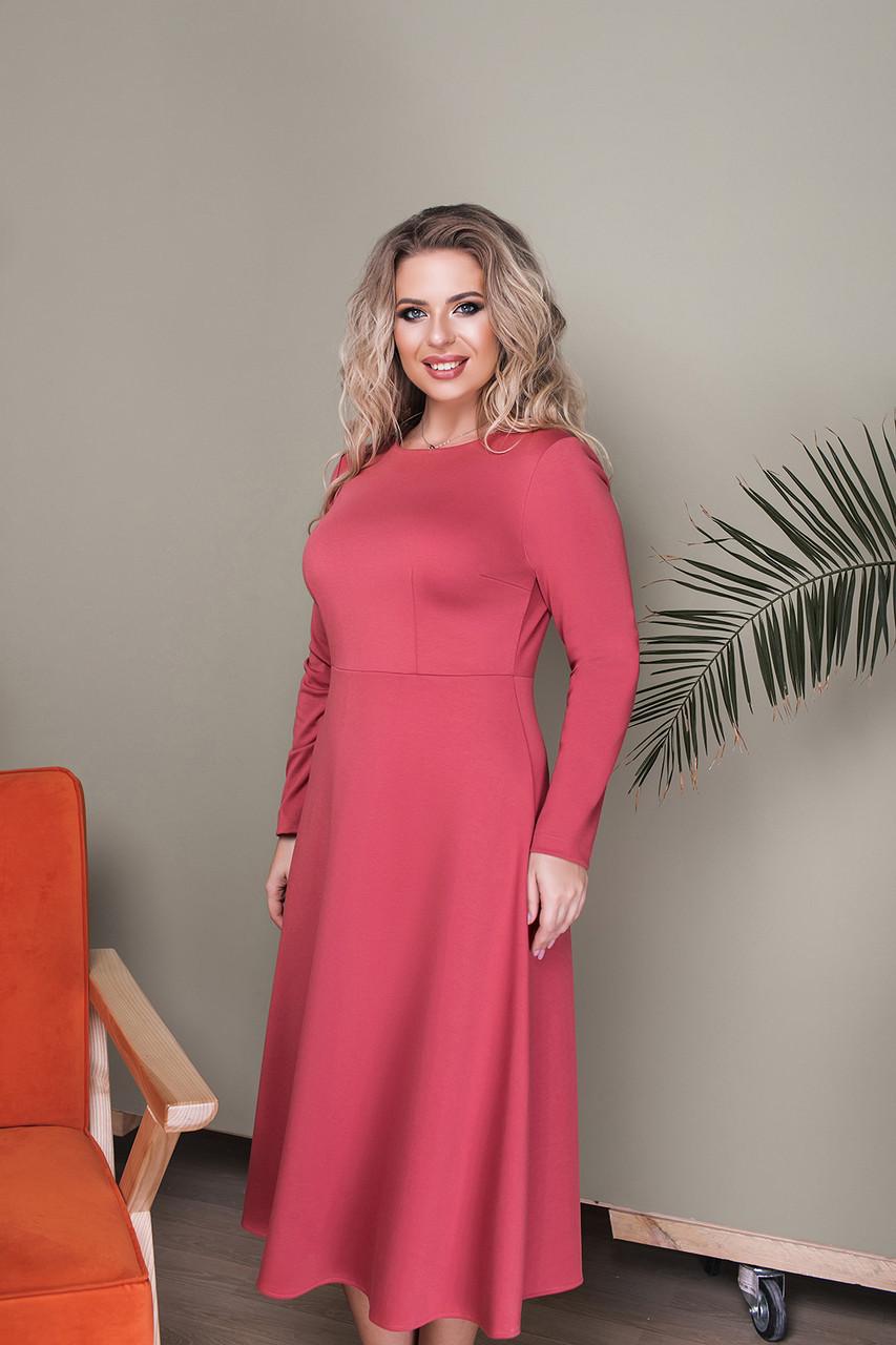 Платье LiLove 033-3 52 коралловый