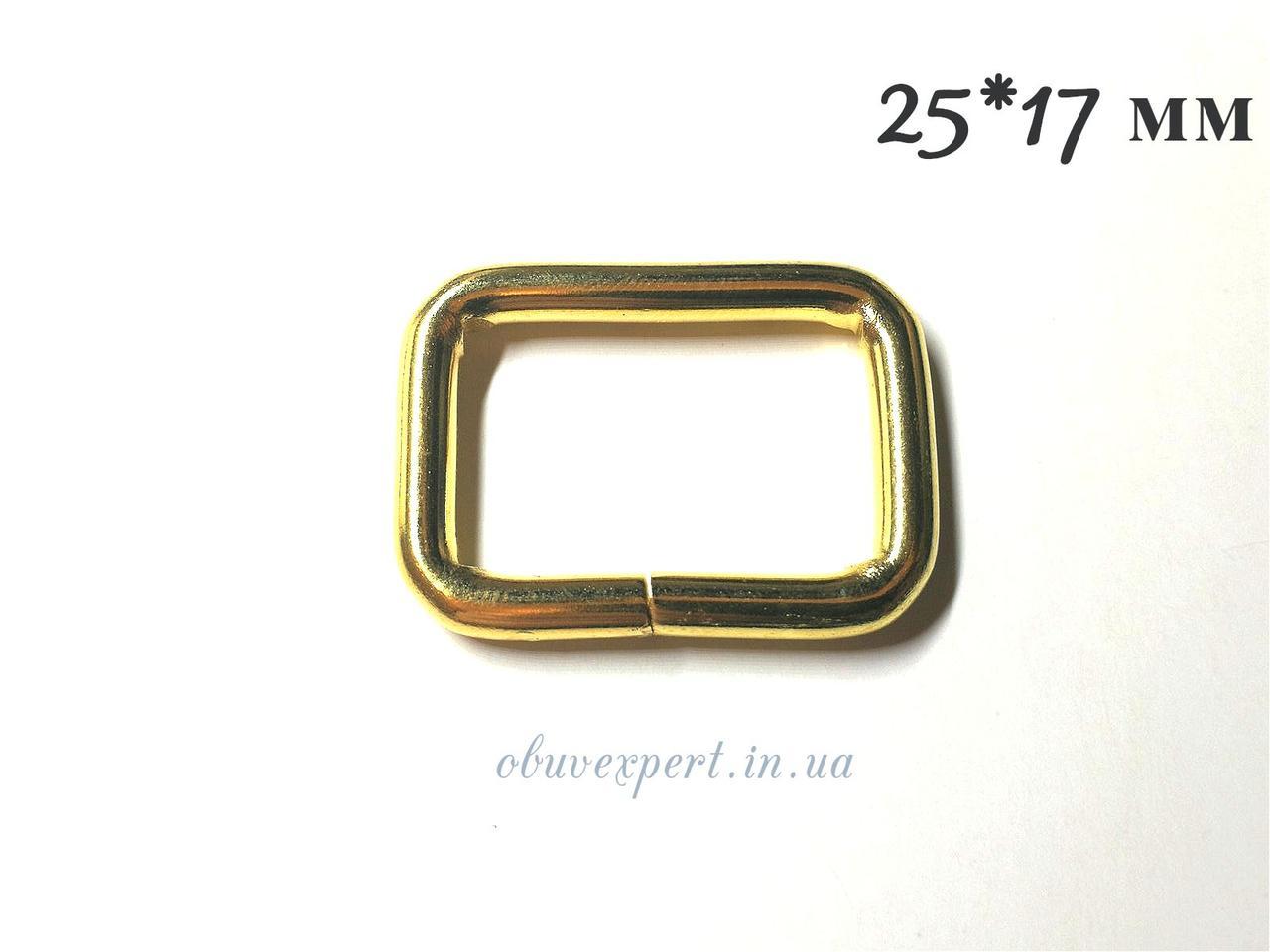 Рамка дротова 25*17 мм, товщ. 4 мм Золото